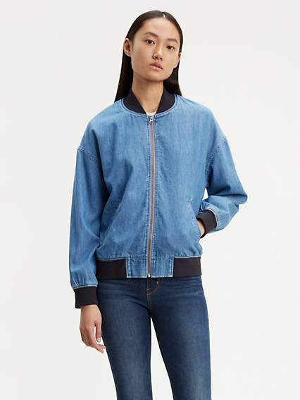 Perry Denim Bomber Jacket