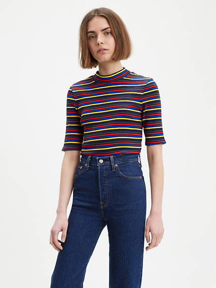 Levi's® Small Logo Ribbed Slim Tee