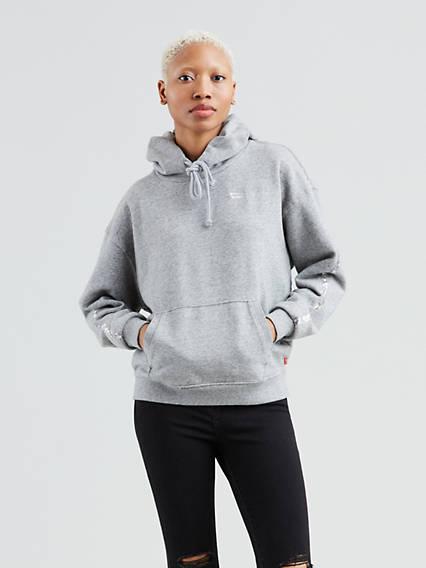 Sequin Sleeve Hoodie