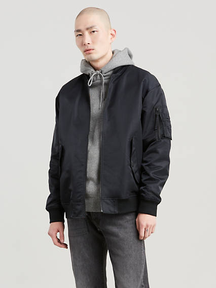 Reversible Oversized Bomber Jacket