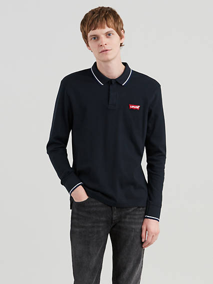 Long Sleeve Modern Logo Polo