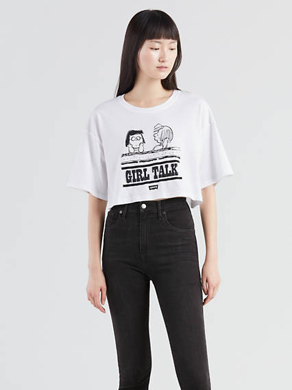 Levi's® X Peanuts Graphic Crop Slacker Tee