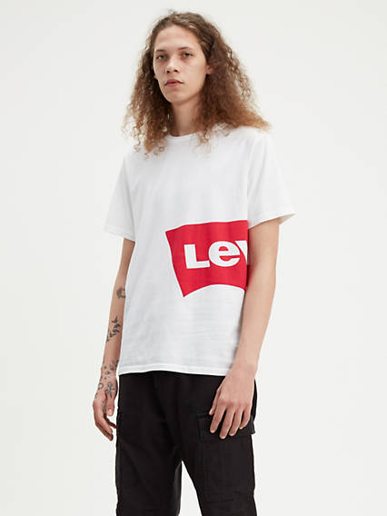 Oversized L Tab Graphic Tee Shirt