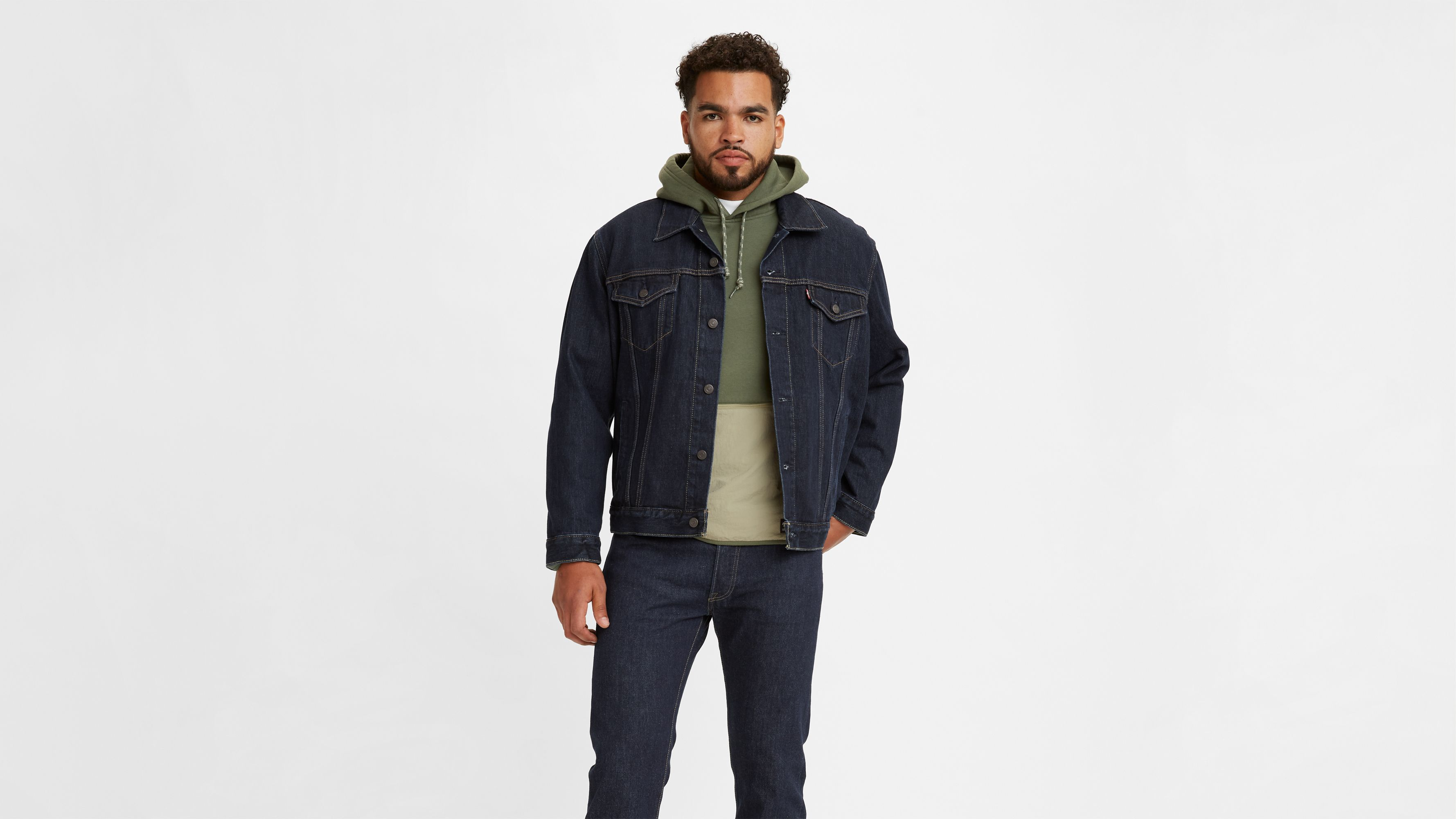 447d08fc9ce5d Trucker Jacket - Dark Wash