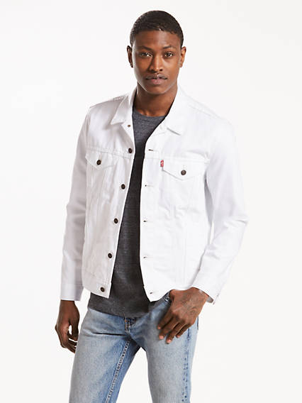 Trucker Jacket White Levi S Us