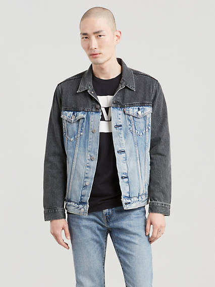 Colorblock Denim Trucker Jacket