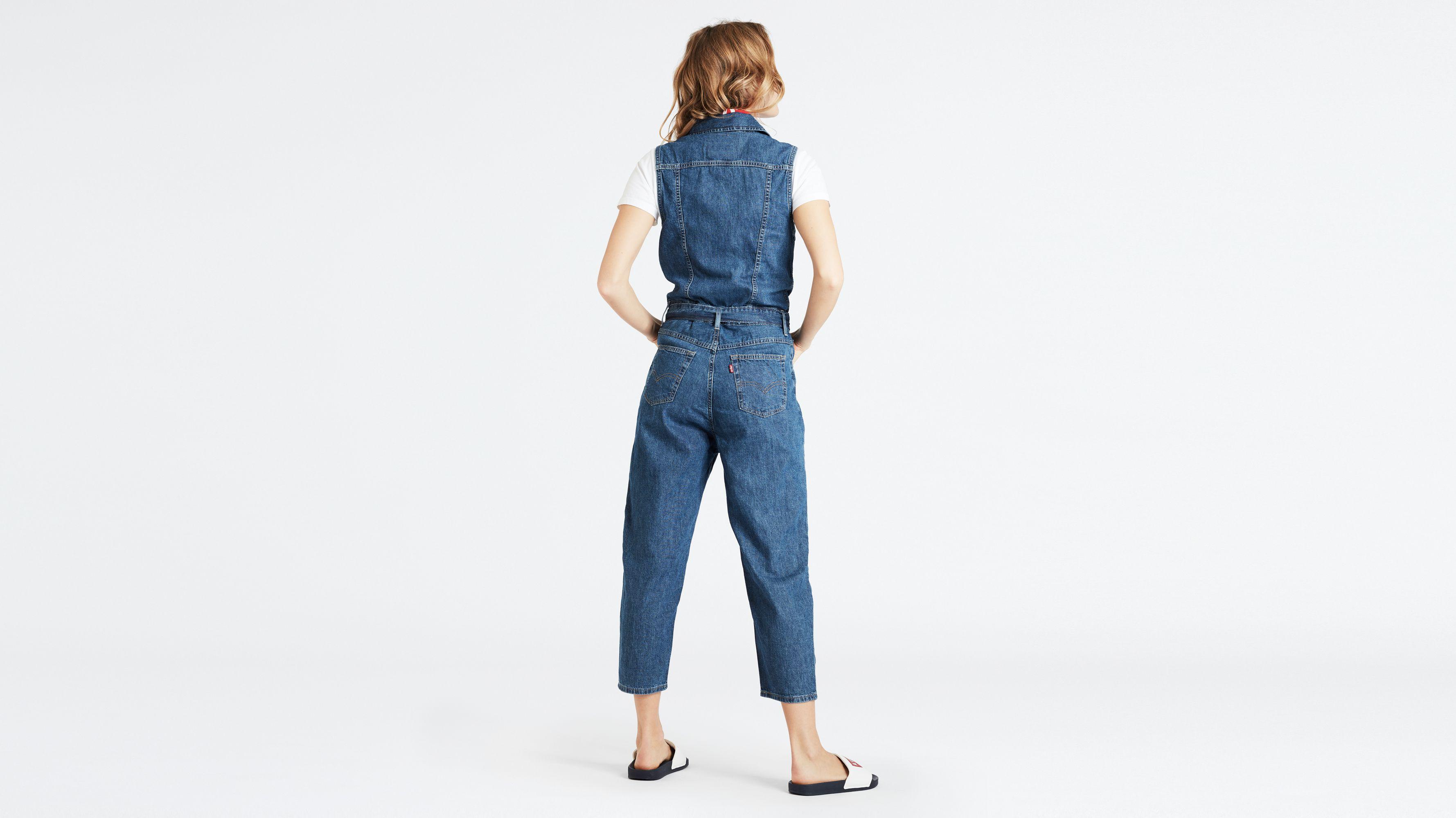 3114a2ed8b8d Cropped Taper Jumpsuit - Medium Wash   Levi's® GB