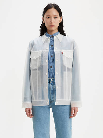Clear Baggy Trucker Jacket