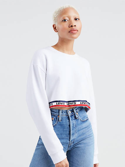Cropped Tape Sweatshirt
