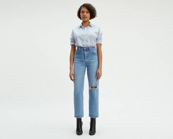 6c4c022780 Ribcage Straight Jeans - Medium Wash