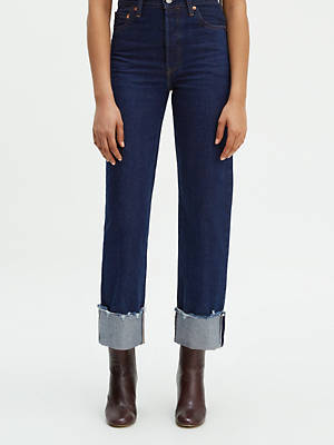 Ribcage Straight Selvedge Women's Jeans by Levi's, available on levi.com for $93 Bella Hadid Pants SIMILAR PRODUCT