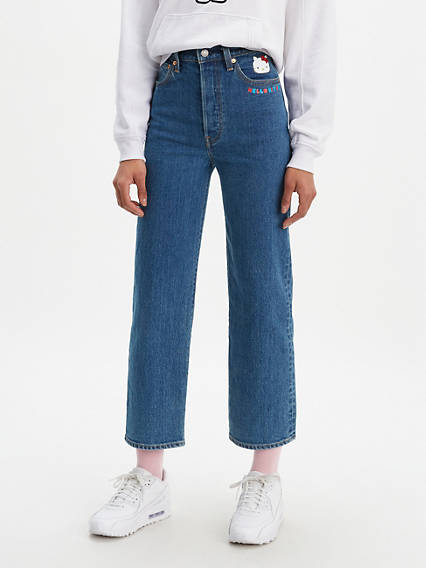 Levi's® x Hello Kitty Ribcage Straight Ankle Jeans