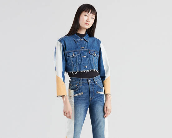 2019 best sell dirt cheap classic style Cut-Off Cropped Trucker Jacket