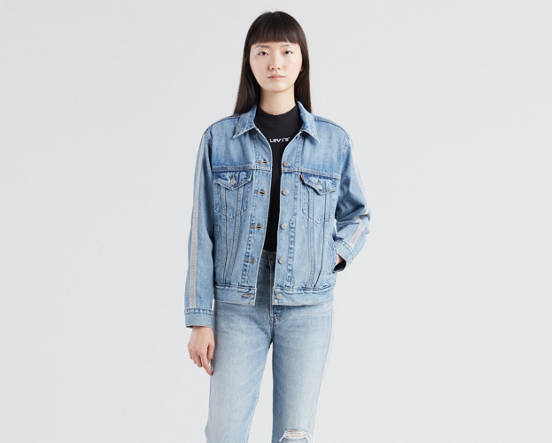 fa9652717bf Ex-boyfriend Trucker Jacket - Medium Wash