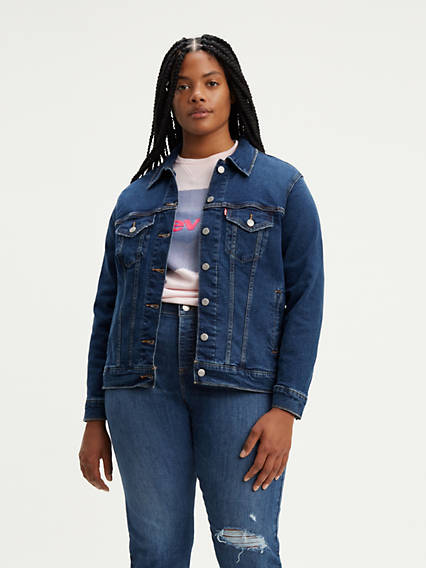 310d2be608471 Plus Size Denim Jackets - Shop Women s Jean Jackets