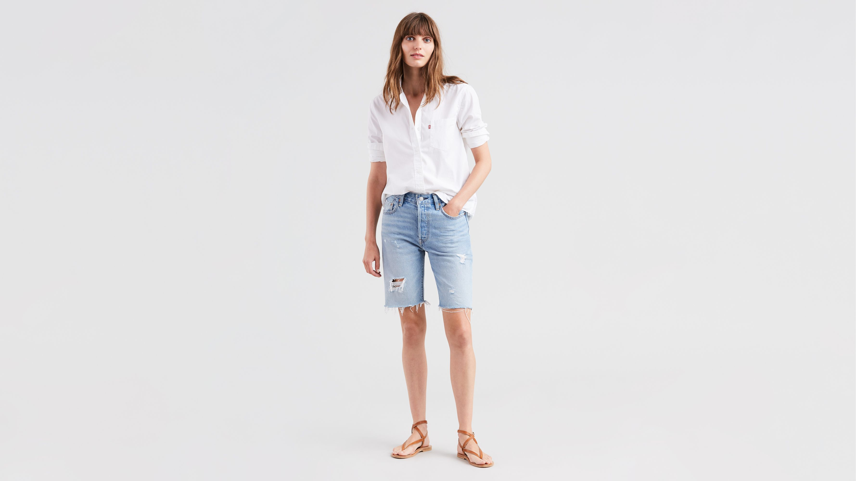 5f0dbcc2 501® Slouch Shorts - Medium Wash | Levi's® US