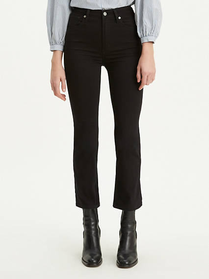 Mile High Crop Flare Jeans