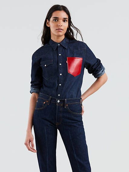 Levi's® x karla Original Red Pocket Shirt (Unisex)