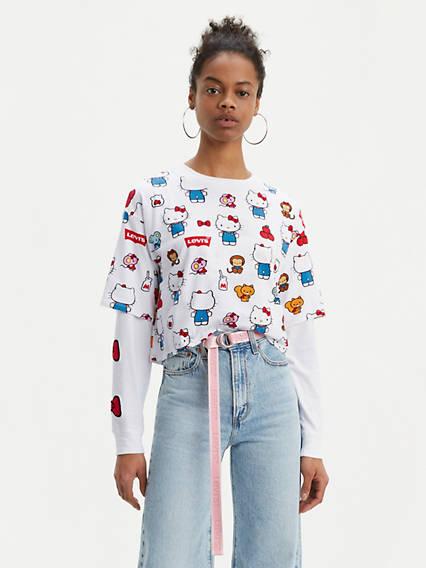 Levi's® x Hello Kitty Graphic Oversize Tee Shirt