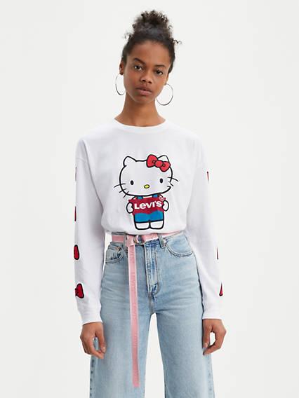 Levi's® x Hello Kitty Hello Kitty Graphic Oversize Long Sleeve Tee