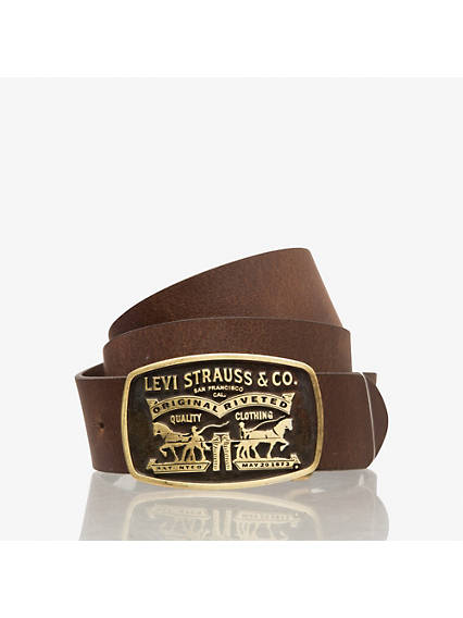 Two-Horse Pull Buckle Belt