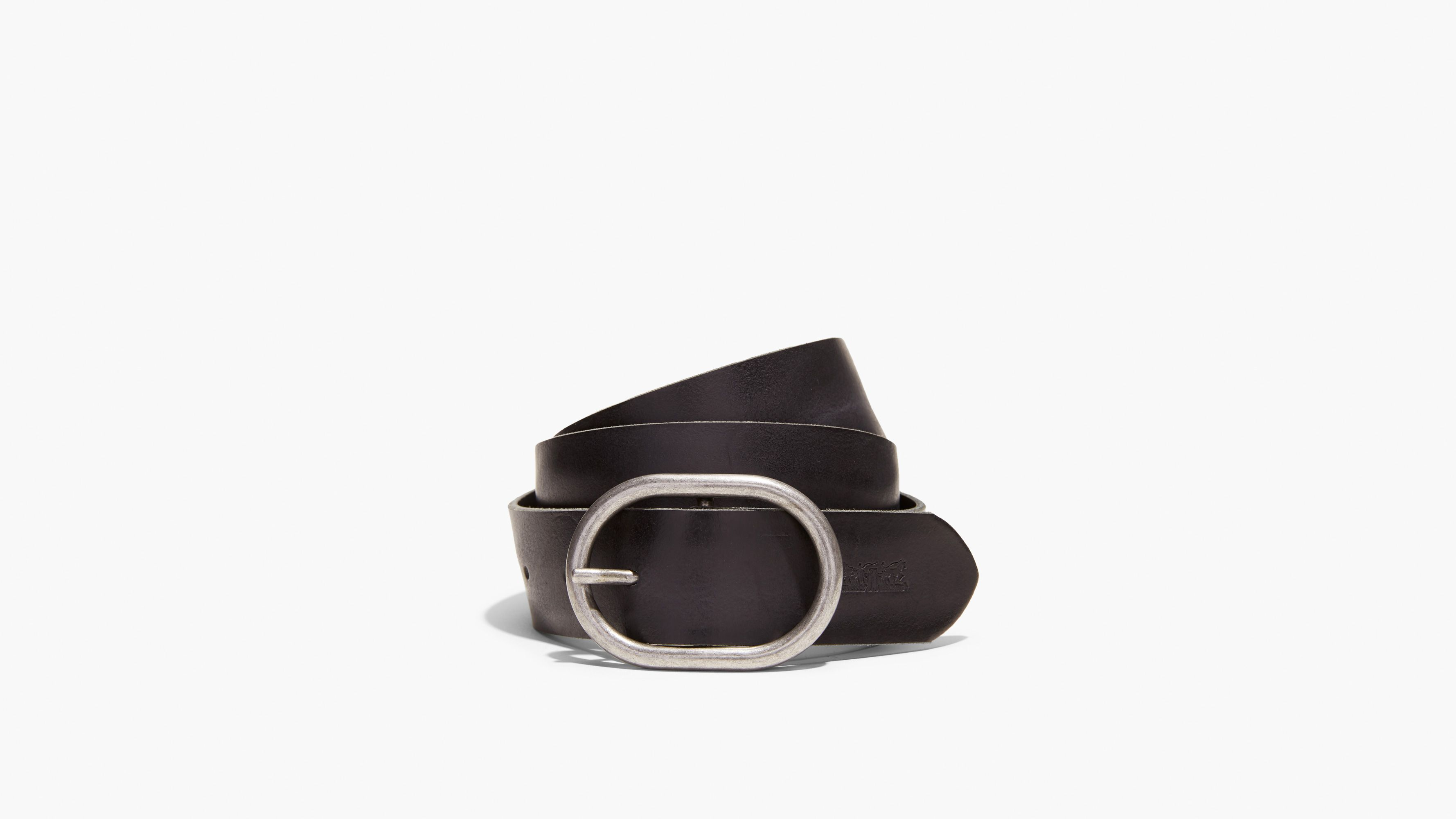 Black leather belts suitable for men and women from small to XX large sizes