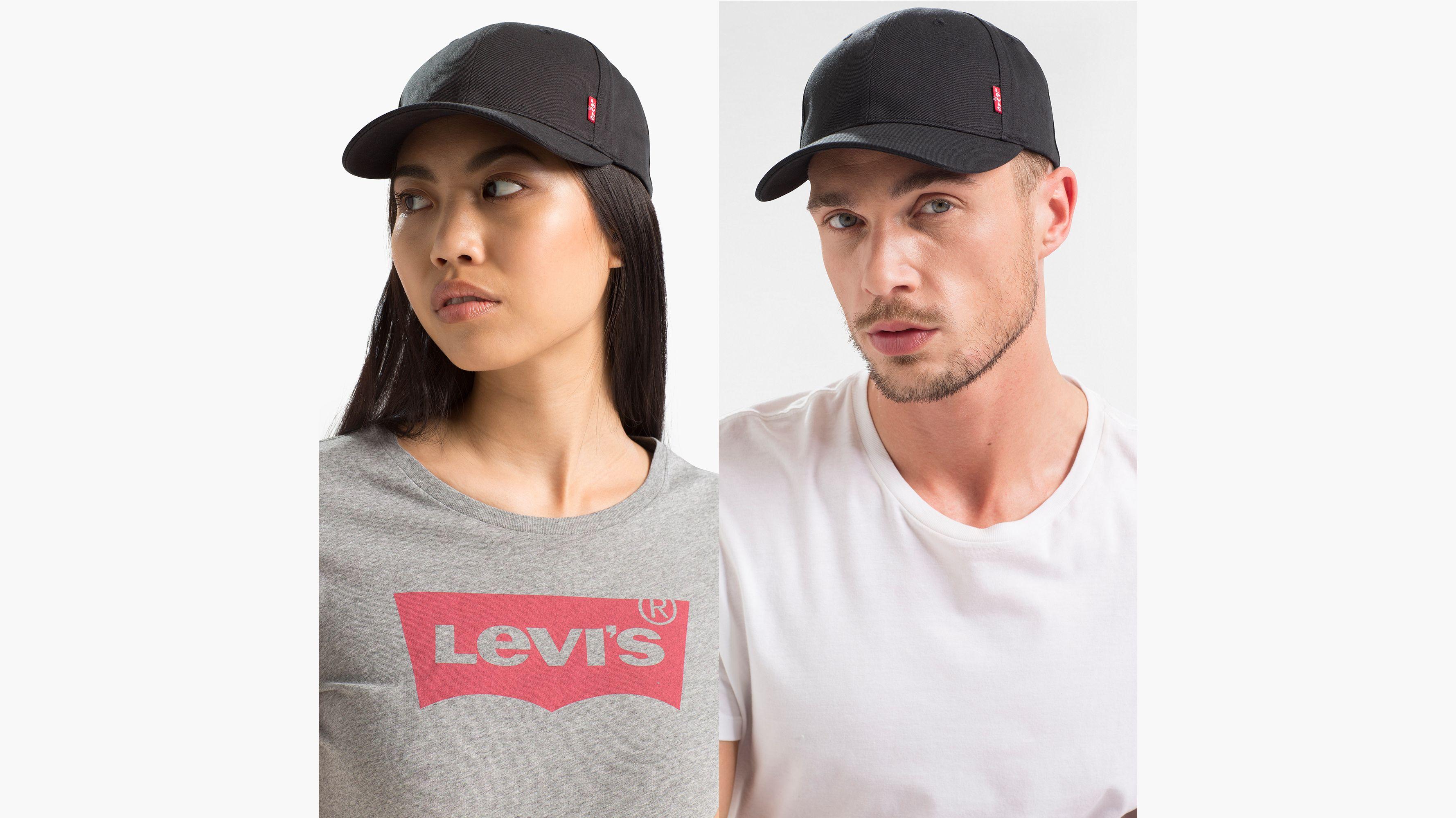 3749869fe16a6e Classic Twill Red Tab Baseball Cap - Black | Levi's® US