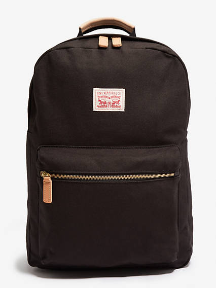 Classic zip top backpack solid canvas