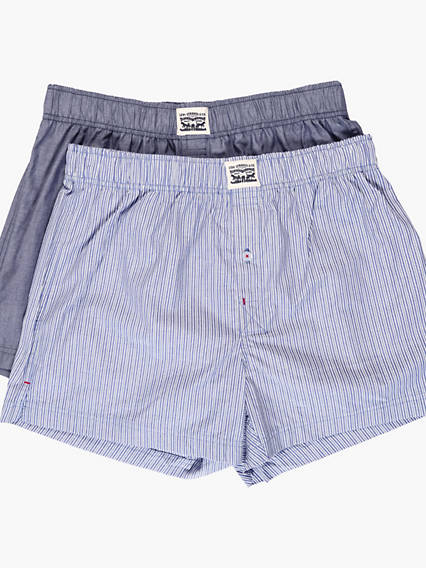Levis 300Ls Striped Chambray Woven Boxer 2 Packs