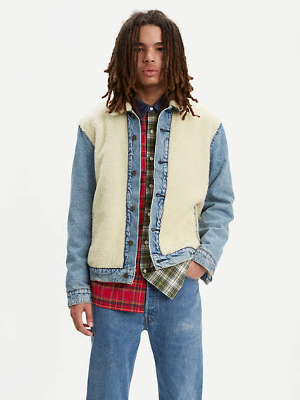 Sherpa Panel Trucker Jacket