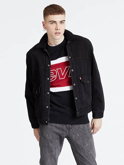 Patched Sherpa Trucker Jacket