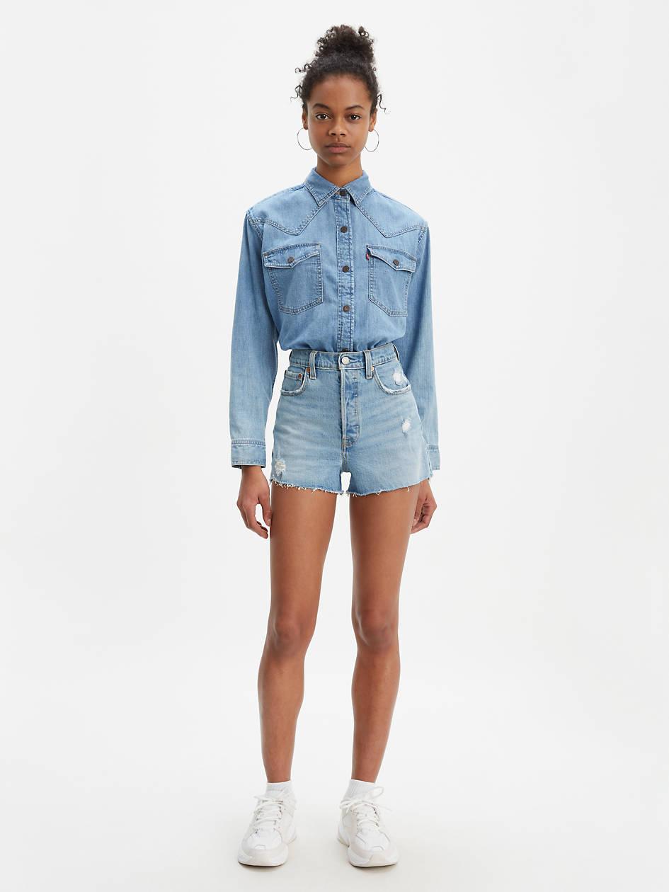 Ribcage Shorts - Light Wash   Levi's® US