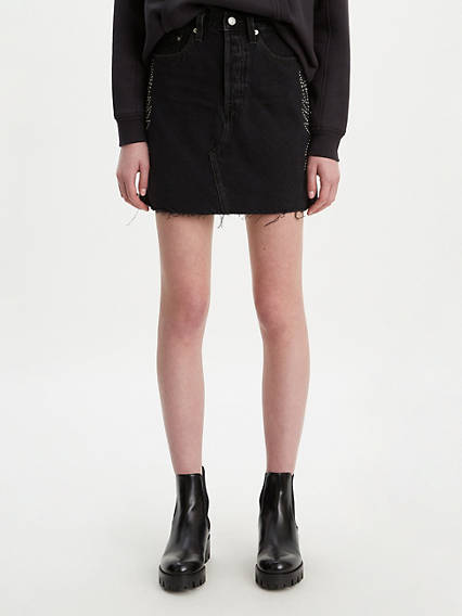 High Rise Deconstructed Boyfriend Skirt