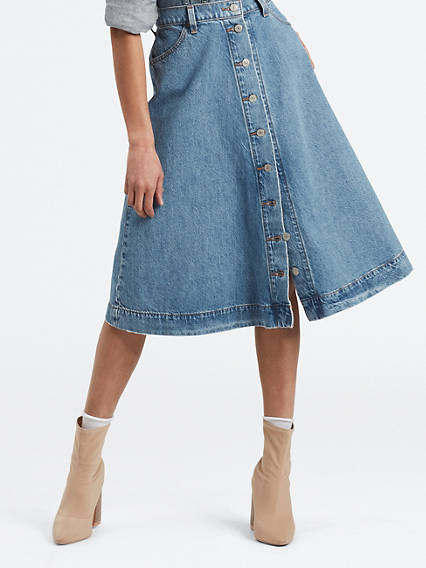 Button Circle Skirt