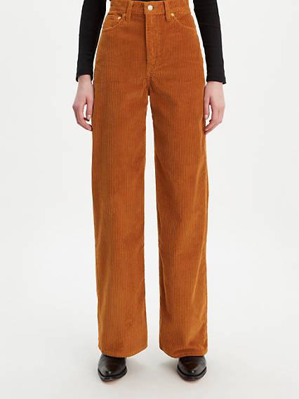 Pantalon joli thorax jambe large côtelé