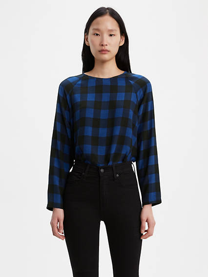 Miranda Plaid Blouse