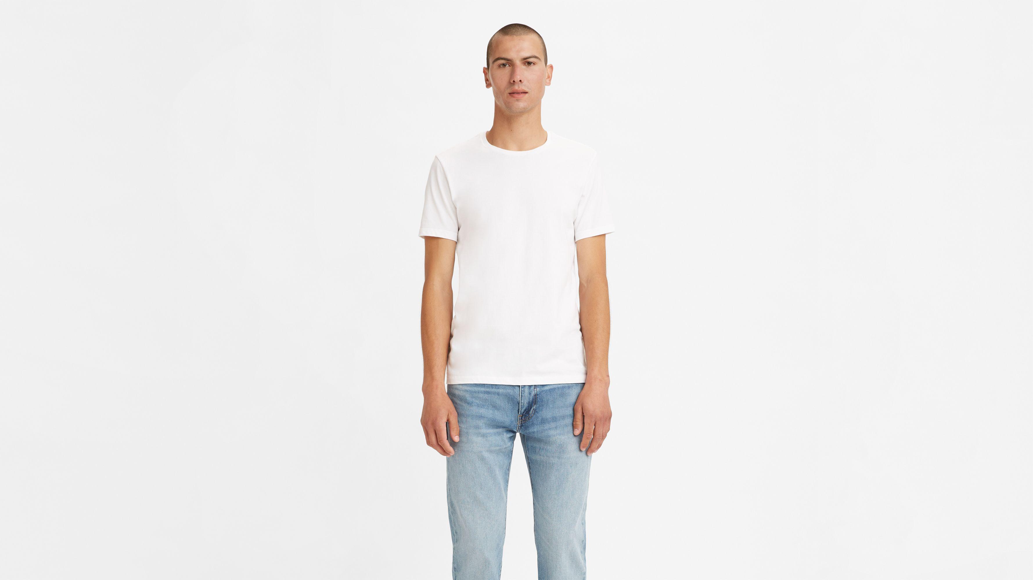 Slim Fit Crewneck Tee Shirt (2-Pack)
