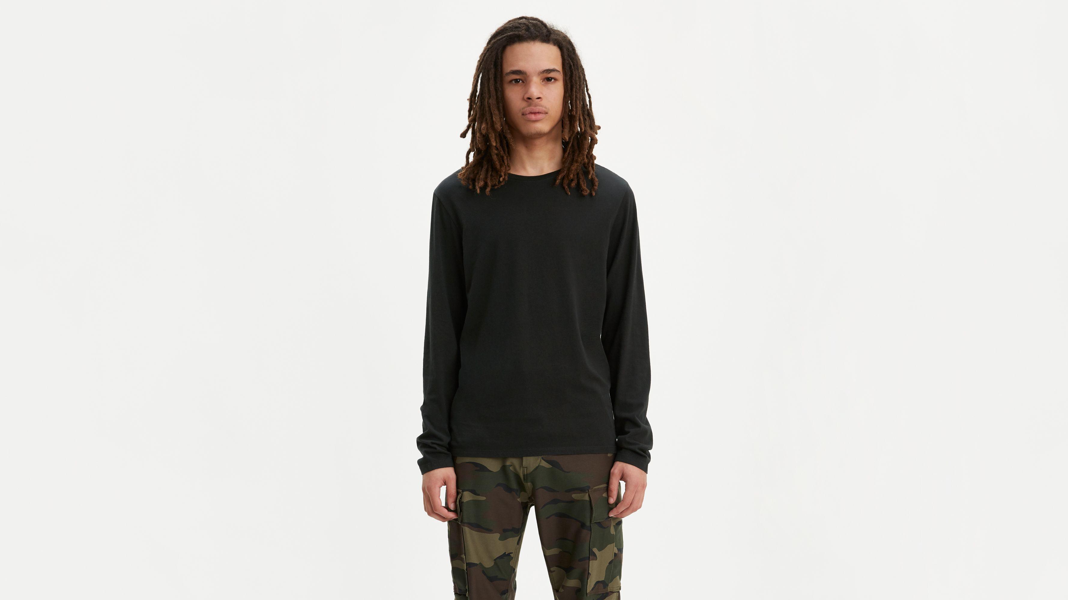 Longsleeve Slim Fit Crewneck Tee Shirt (2-Pack)