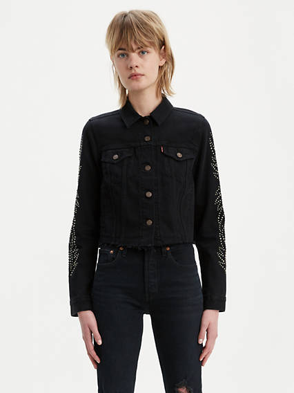Western Studded Trucker Jacket