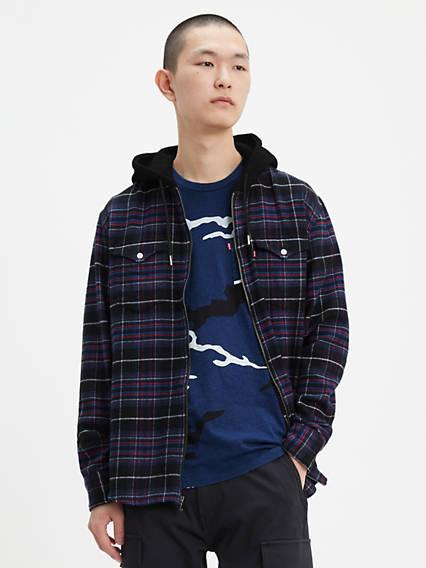 Longsleeve Hooded Barstow Western Shirt