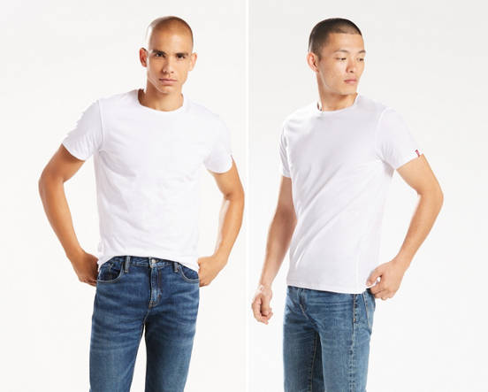 8c972ae7b7c Slim Fit Crewneck Tee Shirt (2-pack) - White