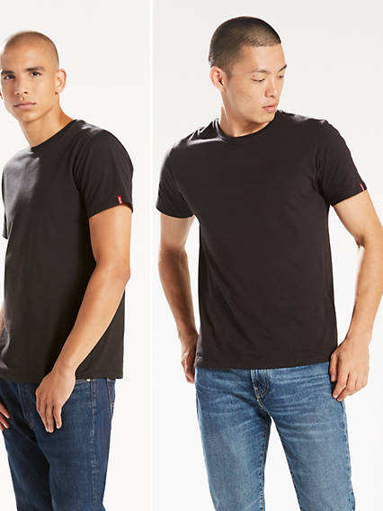 Slim Fit Crewneck Tee Shirt (2-pack)