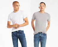 2-Pack Levis Slim Fit Crewneck Tee Shirt