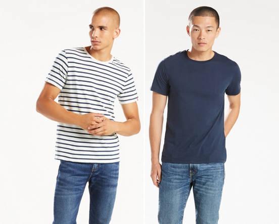 a15cdeee546 Slim Fit Crewneck Tee Shirt (2-pack) - Multi-color