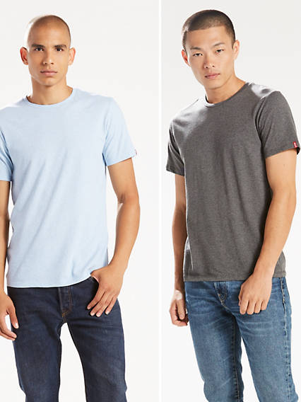 Slim Fit Crewneck Tees (2-Pack)