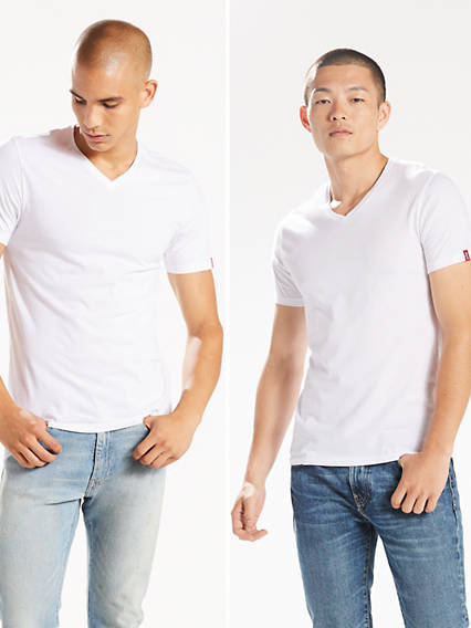 Slim Fit V-Neck Tees (2-pack)