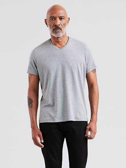 Slim Fit V-Neck Tees 2 Pack