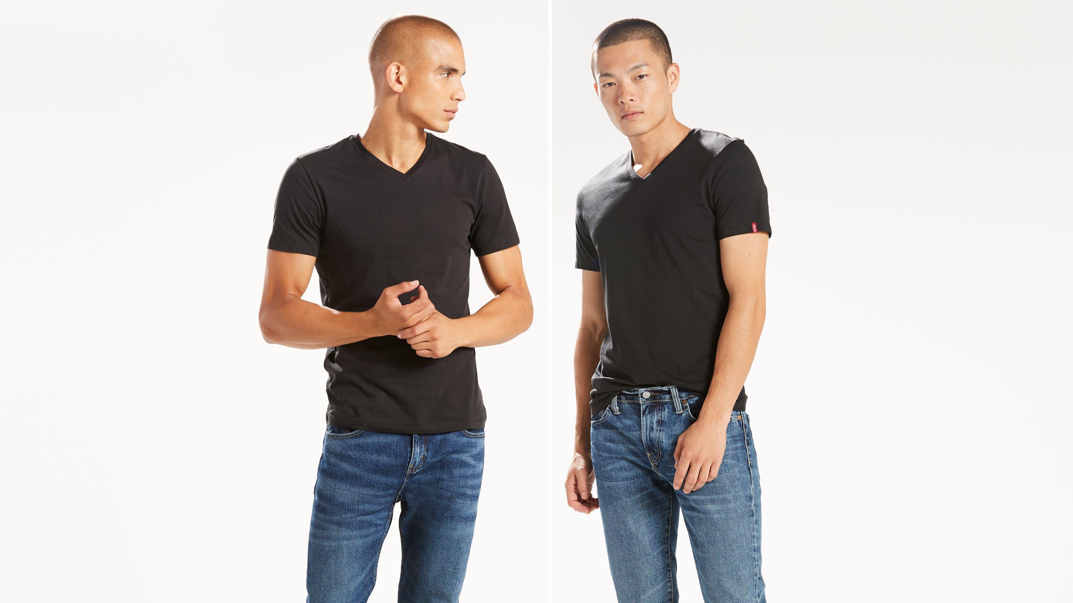 dd07c260ee5b Slim Fit V-neck Tee Shirt (2-pack) - Black | Levi's® US