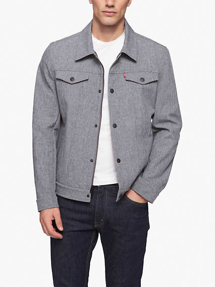 Down Collar Trucker Jacket