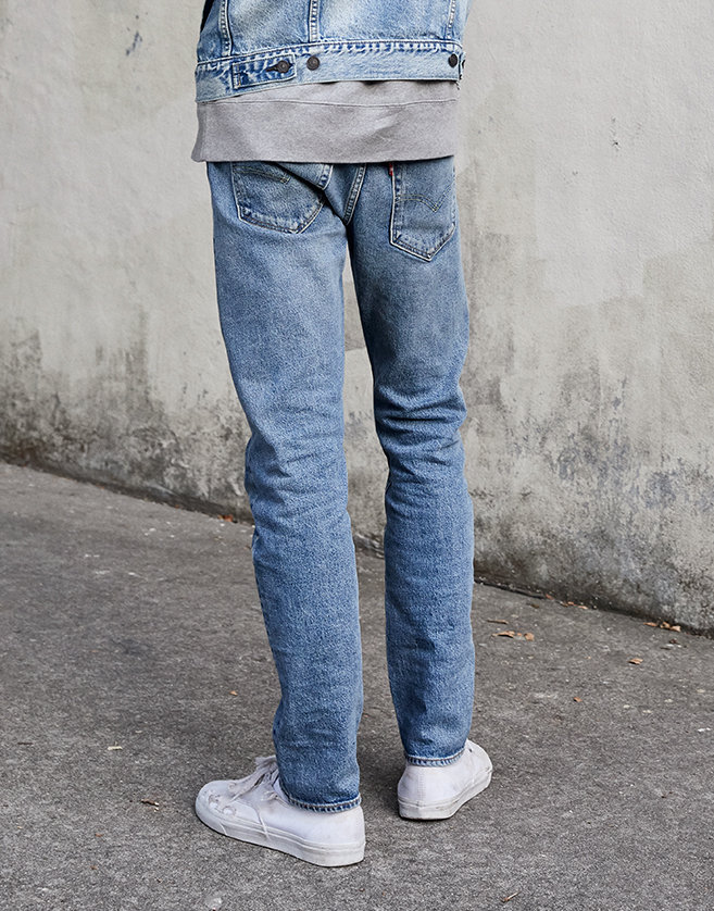 NO-STRETCH JEANS